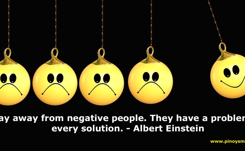 Stay Away from NegativePeople