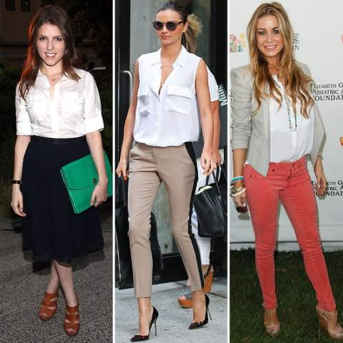 How-Wear-White-Button-Down-Celebrity-Pictures